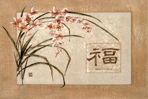 Asian Happiness Flowers Plastic Sign