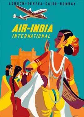 London, Geneva, Cairo, Bombay - Air India International by Asiart
