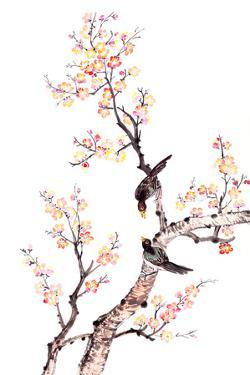 Traditional Chinese Painting Of Plum Blossom by aslysun
