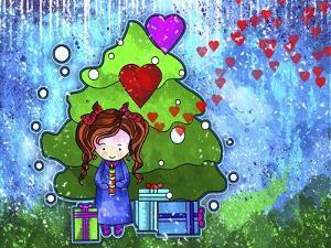 Ella 02 under Tree Xmas by Asmaa' Murad