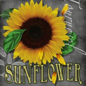 Sunflowers Chalkboard by Asmaa' Murad