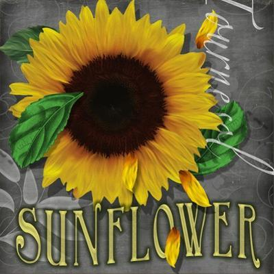 Sunflowers Chalkboard by Asmaa' Murad