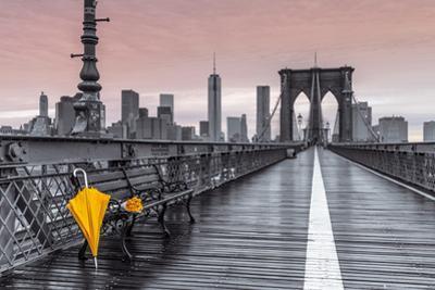 Brooklyn Bridge Umbrella by Assaf Frank