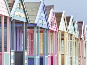 Summer Beach Huts in Focus by Assaf Frank
