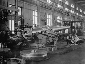 Assembled Cannon in the Foundry of the Washington Navy Yard, 1900