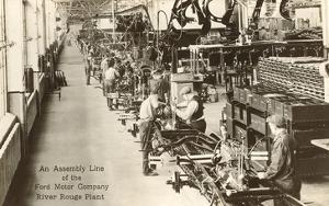 Assembly Line, Ford Factory, Michigan