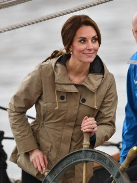 Catherine, Duchess of Cambridge at the wheel by Associated Newspapers