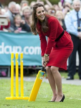 Catherine, Duchess of Cornwall plays cricket by Associated Newspapers