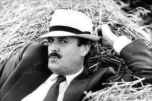John Cleese Lounging in Hay by Associated Newspapers