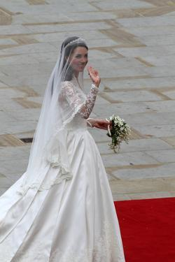 Kate Middleton arrives at Westminster Abbey to marry Prince William by Associated Newspapers