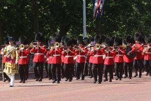 Military band at Trooping the Colour parade by Associated Newspapers