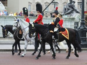 ?Prince Charles, Prince William, Princess Anne, at Trooping the Colour ceremony 2015 by Associated Newspapers