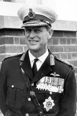 Prince Philip in the uniform of the Royal Marines by Associated Newspapers
