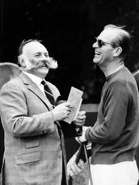 Prince Philip laughing with comedian Jimmy Edwards by Associated Newspapers