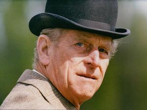 Prince Philip wearing a bowler hat by Associated Newspapers
