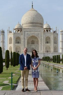 Prince William and Catherine at the Taj Mahal, India by Associated Newspapers