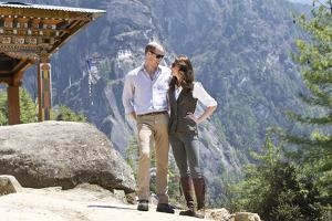 Prince William and Catherine at the Tiger's Nest Monastery, Bhutan by Associated Newspapers