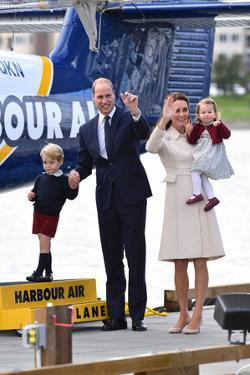 Prince William and Kate with George and Charlotte in Canada by Associated Newspapers
