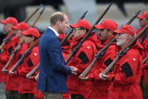 Prince William meets Canadian Rangers by Associated Newspapers