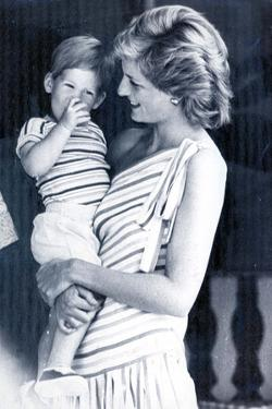 Princess Diana on holiday in Majorca with Prince Harry by Associated Newspapers