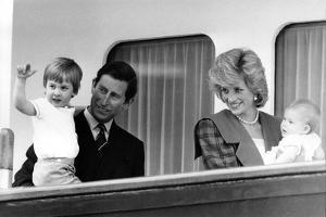 Princess Diana with family aboard the Royal Yacht Britannia by Associated Newspapers