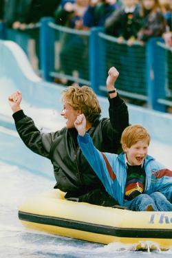 Princess Diana with Prince Harry on a Water Ride by Associated Newspapers