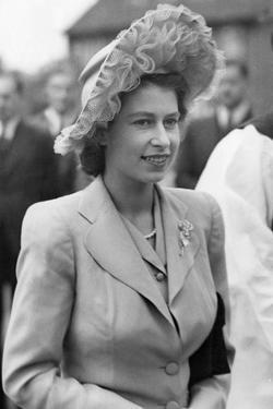 Princess Elizabeth, (now Queen Elizabeth II), at Radley College centenary Celebrations in 194 by Associated Newspapers