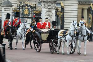 Queen Elizabeth II and Prince Philip at Trooping the Colour ceremony 2015 by Associated Newspapers