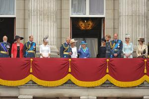 Queen Elizabeth II and the Royal family on the balcony of Buckingham Palace by Associated Newspapers