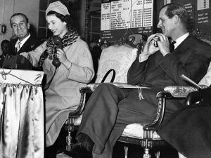 Queen Elizabeth II at Bristol Telephone Exchange by Associated Newspapers