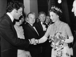 Queen Elizabeth II meeting Tom Jones by Associated Newspapers