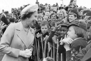 Queen Elizabeth II meets  cub scouts in Greenwich by Associated Newspapers