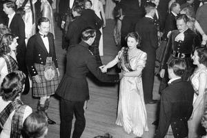 Queen Elizabeth II (when Princess Elizabeth) dancing by Associated Newspapers