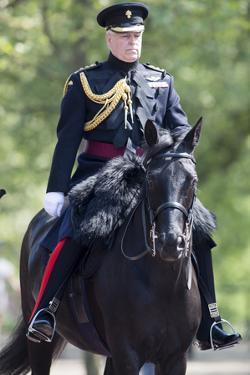 The Duke of York (Prince Andrew) in his duty as Colonel of the Grenadier Guards by Associated Newspapers