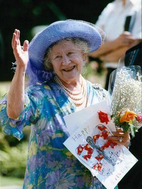 The Queen Mother on her 89th birthday by Associated Newspapers