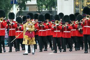 Trooping the Colour on the Mall, London by Associated Newspapers