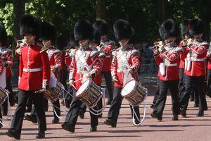 Trooping the Colour parade - drummers by Associated Newspapers