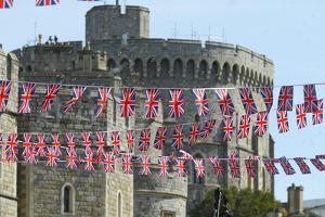 Union Jack Flags flying at Windsor Castle by Associated Newspapers