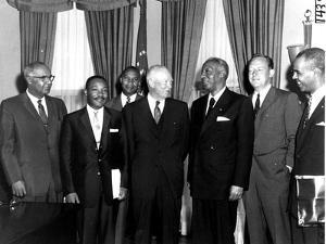 Eisenhower Civil Rights Leaders by Associated Press