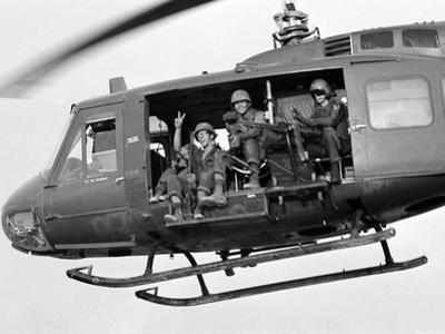 Vietnam War U.S. GI Peace Sign by Associated Press