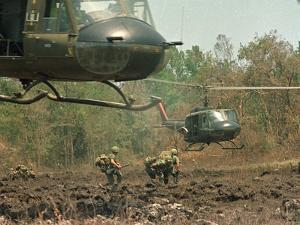 Vietnam War U.S. Paratroopers by Associated Press