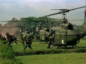 Vietnam War U.S. Paratroopers by Associated Press