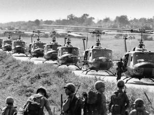 Vietnam War US Helicopters by Associated Press