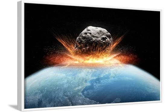 Asteroid Impact, Artwork--Framed Photographic Print