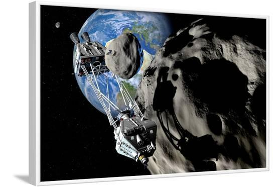 Asteroid Mining--Framed Photographic Print
