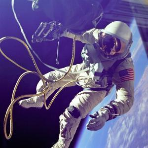 Astronaut Edward White During His 23 Minute Space Walk