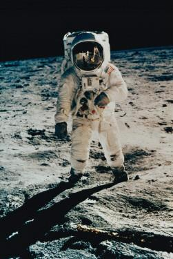 Astronaut Edwin Aldrin on the Moon, Apollo 11, July c.1969