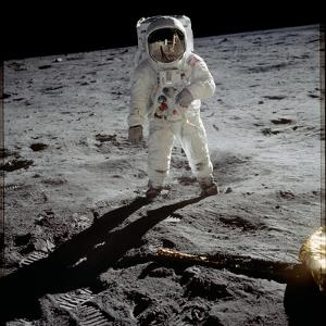Astronaut Edwin 'Buzz' Aldrin Standing on the Moon after the Apollo 11 Landing, 20 July 1969