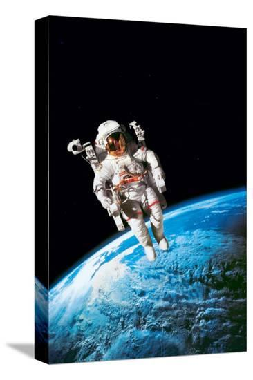 Astronaut--Stretched Canvas Print