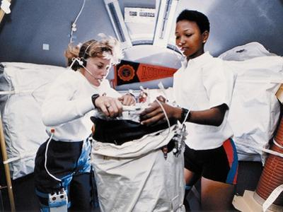 Astronauts Dr Jan Davis and Dr Mae Jemison, Mission Specialists on Space Shuttle Endeavor Mission